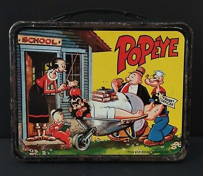 Vintage Popeye 1964 King-Seeley Thermos Tin Metal Lunch Box