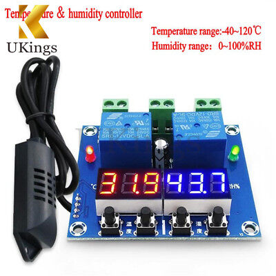 DC 12V XH M452 Dual Output Thermostat Temperature Humidity Hygrometer Controller