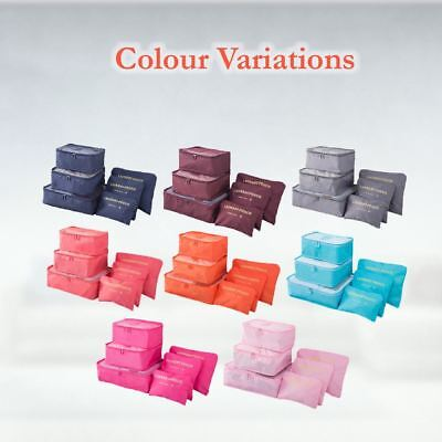 6 Pcs Clothes Underwear Socks Packing Cube Storage Travel Luggage Organizer Bag