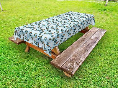 Airplane Outdoor Picnic Tablecloth in 3 Sizes Decorative Washable Waterproof