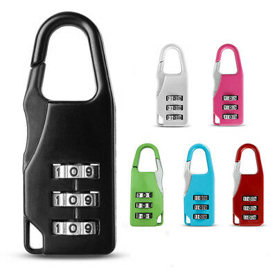 Mini 3 Digit Number Code Password Combination Padlock Security Travel Safe Lock