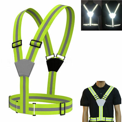 Night Cycling Reflective Belts Traffic Vests Outdoor Sports Safety Elastic Strap
