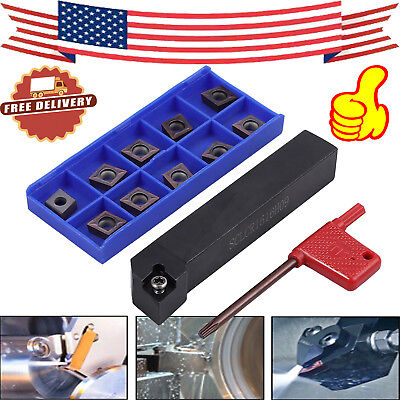 10pcs SCLCR1616H09 Lathe Turning Tool + CCMT09T304 Carbide Inserts Cutter Holder
