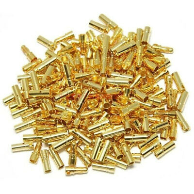 2mm Gold-plated Bullet Banana Plug Connector For RC Battery ESC 20-50 Pairs