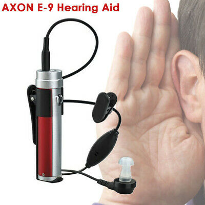 AXON E-9 Rechargeable Hearing Aid Adjustable Tone In Ear Sound Voice Amplifier
