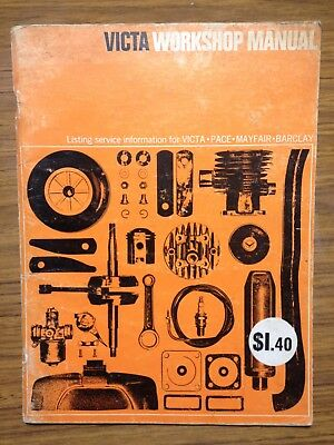 Victa Lawn Mower Workshop Manual 1960-1970's VICTA PACE MAYFAIR BARCLAY