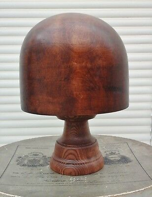 Vintage William Plant Wooden Hat Block/Form with Stand, Millinery Display.