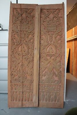 VERY RARE - Traditional Balinese Temple antique hand carved doors