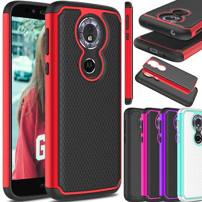 For Motorola Moto G6 Play Phone Case Hybrid Shockproof Rubber TPU+PC Armor Cover