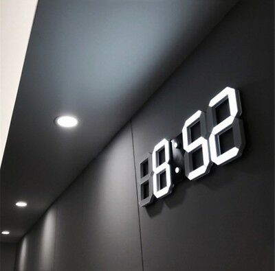 LED Digital Numbers Wall Clock With 3 Levels Brightness Alarm Snooze LED Clock