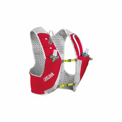 CamelBak Ultra Pro Vest 17 oz Quick Stow Flask Crimson Red/Lime Punch S