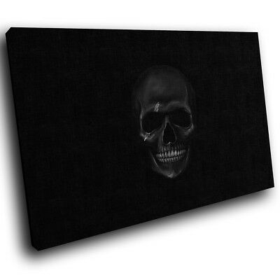 ZAB210 Black Skull Gothic Modern Canvas Abstract Home Wall Art Picture Prints