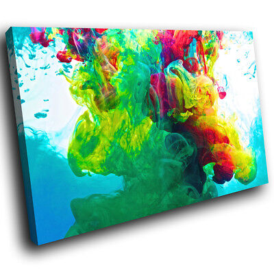 ZAB352 Colourful Cool Funky Modern Canvas Abstract Home Wall Art Picture Prints