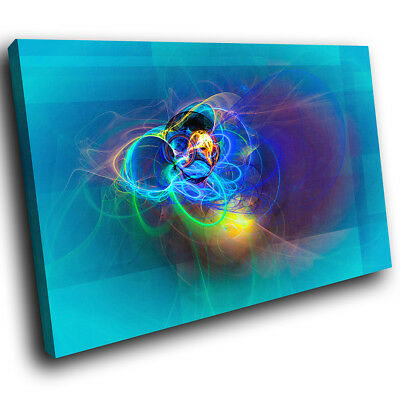 ZAB1627 Colourful Cool Funky Modern Canvas Abstract Wall Art Picture Prints