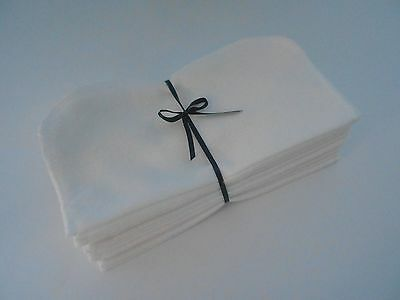 "Cloth Wipes 20 Flannel 8"" White Reusable TP Baby Family Tissue Napkin 1 or 2 Ply"
