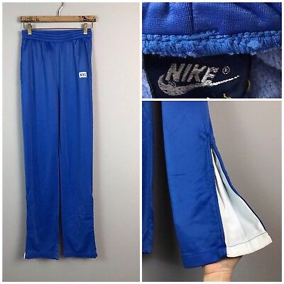RARE Vintage 70s Japan Nike Blue Label Warm Up Track Pants Boys Tall Large
