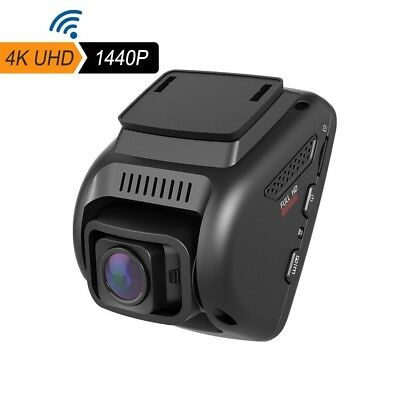"4K Dash Cam, WiFi Car Cam with Android & iOS App, 2.4"" LCD UHD 2160p 170°Wide An"