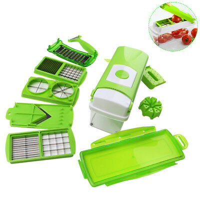 12Pcs/set Vegetable Cutter Set Fruit Onion Chopper Food Container Kitchen Gadget