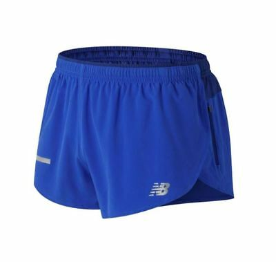 New Balance Men's Impact 3 Inch Split Shorts Size S M L Blue Running Brief Lined