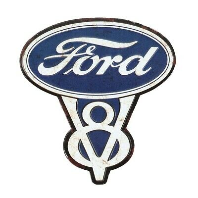 Ford V8 Embossed Metal Magnet