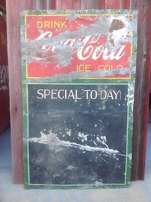 Coca Cola sign 25 x 41 soda pop from the 30's menu board rare