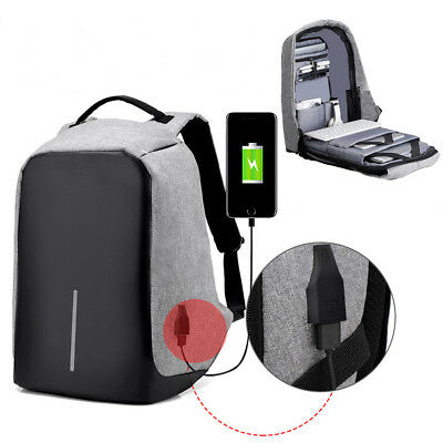 "Laptop Backpack Women Men 17"" Anti-theft Computer Notebook Bag USB Charge Port"