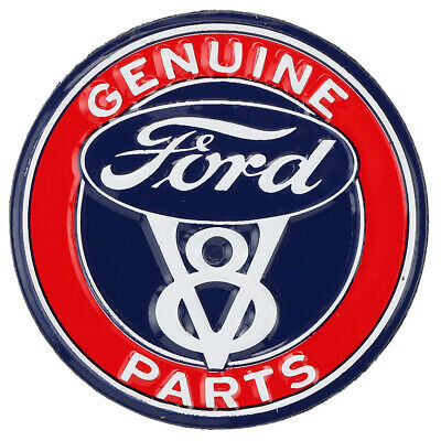 Ford V8 Genuine Parts Embossed Metal Magnet