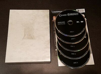 Game of Thrones: The Complete Third Season (DVD, 5-Disc) 3 HBO tv show series