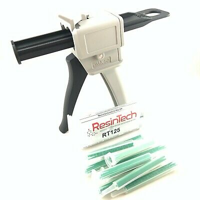 Motorsport Epoxy Starter Kit - Resintech RT125, 5x Mixing Needle, Applicator Gun