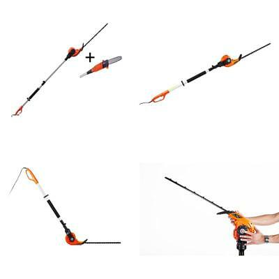 Electric Long Reach Telescopic Pole Chainsaw Pruner Hedge Trimmer Kit