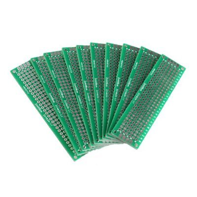 10x 2x8cm perforated grid board PCB strip PCB board circuit board PCB green W4Z8