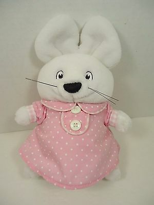 "9"" Eden Max & Ruby Plush Ruby Bunny Rabbit Pink Polka Dot Dress 1997 Easter"