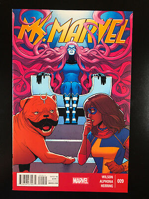 Ms Marvel 9 Marvel 12/14 Jamie McKelvie Cover Kamala Khan Lockjaw A8