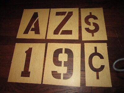 """Paper Stencil Lettering Guide Alphabet Capitals Numbers Gothic 6"""" Crafting"""