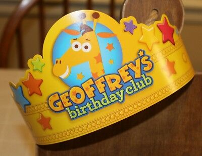 Toys R Us Yellow Geoffrey Crown Birthday Club NEW adjustable FREE SHIPPING