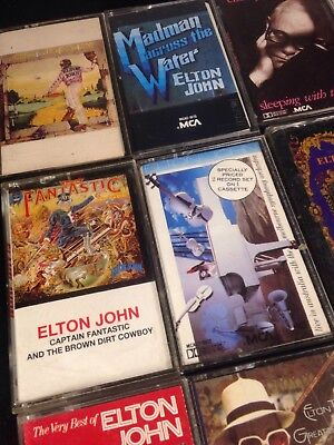 Lot Of 15 Elton John Cassettes Rare Titles Fantastic madman yellow brick X228