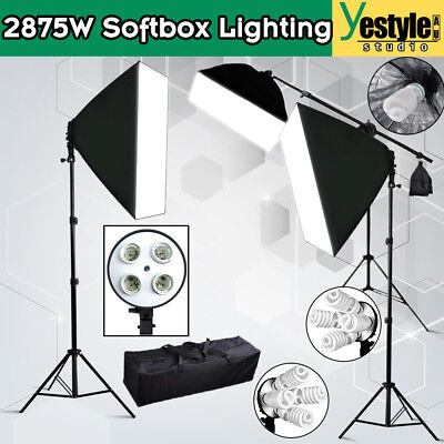 Photography SoftBox Studio Continuous Photo Lighting Boom Light Arm Soft box Kit