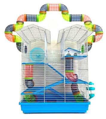 5 Level Large Twin Towner Syrian Hamster Habitat Rodent Gerbil Mouse Mice 240