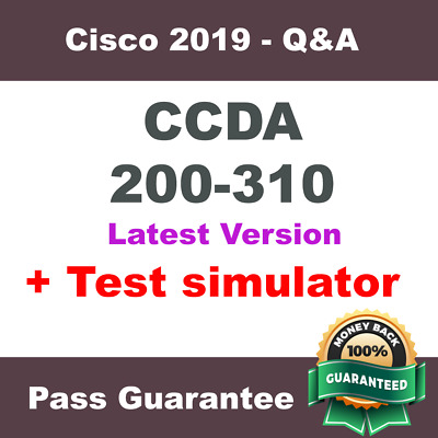 Cisco CCDA Exam Dump for 200-310 Test Q&A PDF + VCE Simulator ( 2018 Verified )