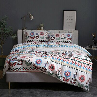 Black Striped Doona/Quilt/Duvet Cover Set Single/Double/Queen/King Size Bedding