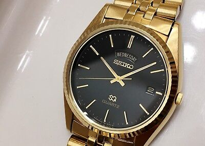 Seiko Sgf212 Men's Rare Vintage Non-Working Sample Quartz Watch 5Y23 6A69