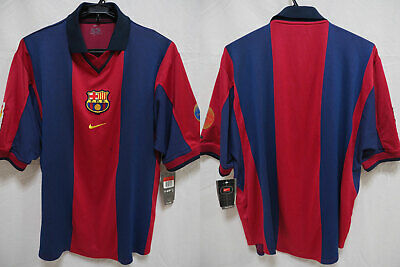 low priced f11fc edfac 2000-2001 FC BARCELONA Barca FCB Centenary Jersey Shirt Home Camiseta Nike  L NWT