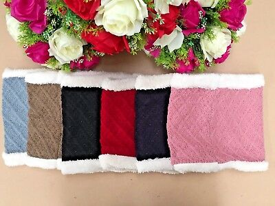 Winter Neck Warmer Warm Fleece Snood Scarf Wool Knit Thickened Polyester