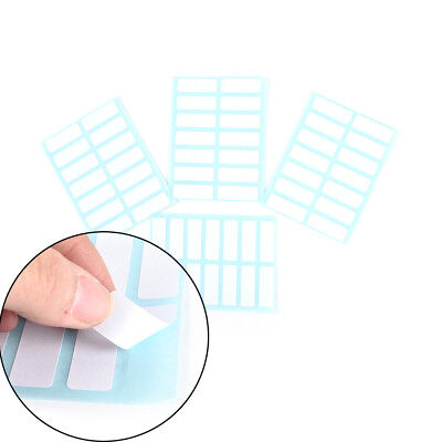 12sheet self adhesive sticky white label writable name sticker Blank note label^