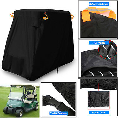 300D 2 Passenger Waterproof Golf Cart Storage Cover Fits EZ GO Club Car Yamaha