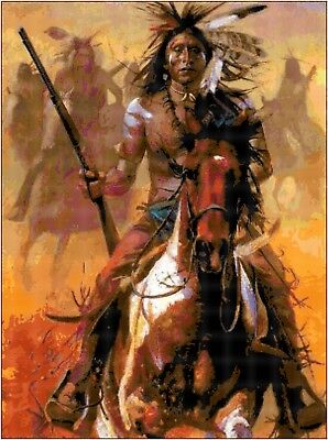 Cross Stitch Chart Pattern Indian Warrior (3)