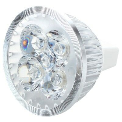 Bombilla Lampara MR16 4 LED Luz Blanco Calido DC12V Alta Potencia T6J2