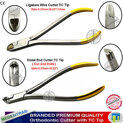 Dental Ortho Ligature Wire Cutter+Distal End Cutter Cut & Hold Upto 0.5mm 0.022""