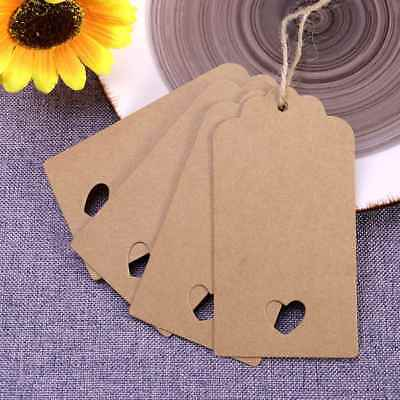 100X Hollow Heart Kraft Paper Card Blank Tag Wedding Favour Gift DIY Tag Label