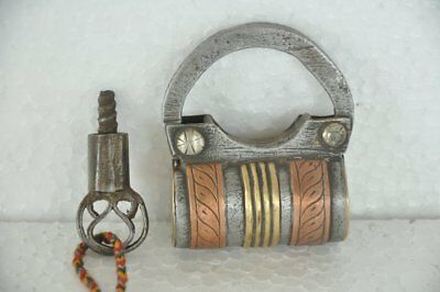 Old Iron Handcrafted Unique Brass & Copper Fitted Screw System Padlock